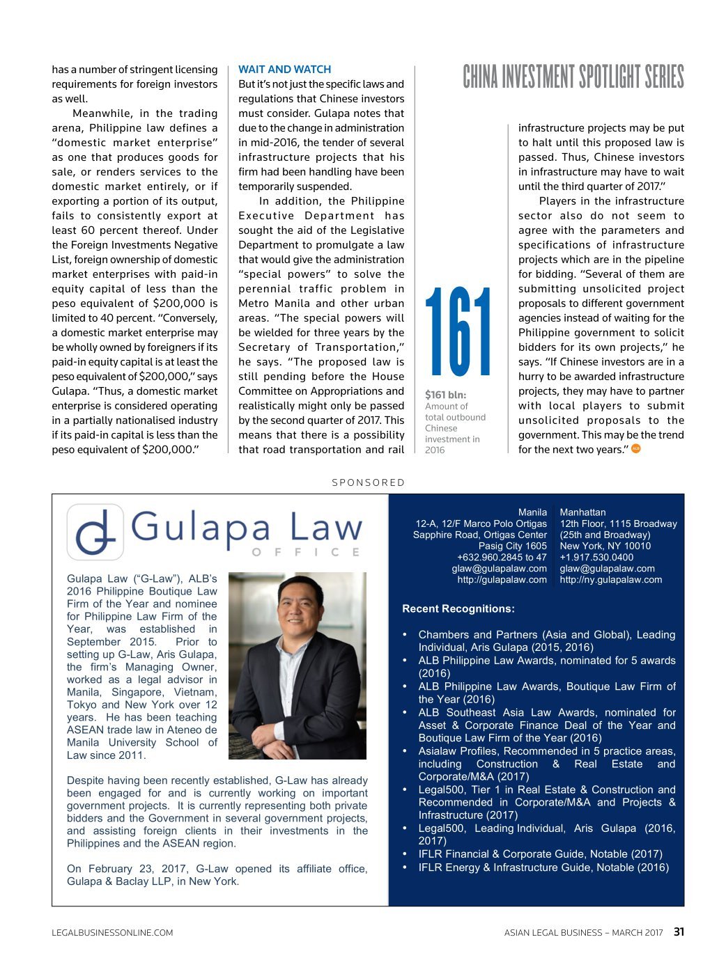 ASIAN LEGAL BUSINESS MARCH 2017