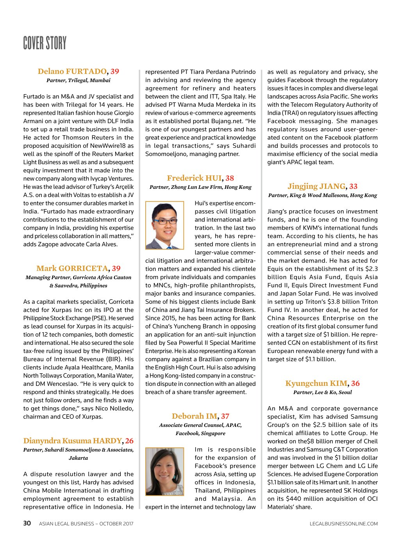 ASIAN LEGAL BUSINESS OCTOBER 2017